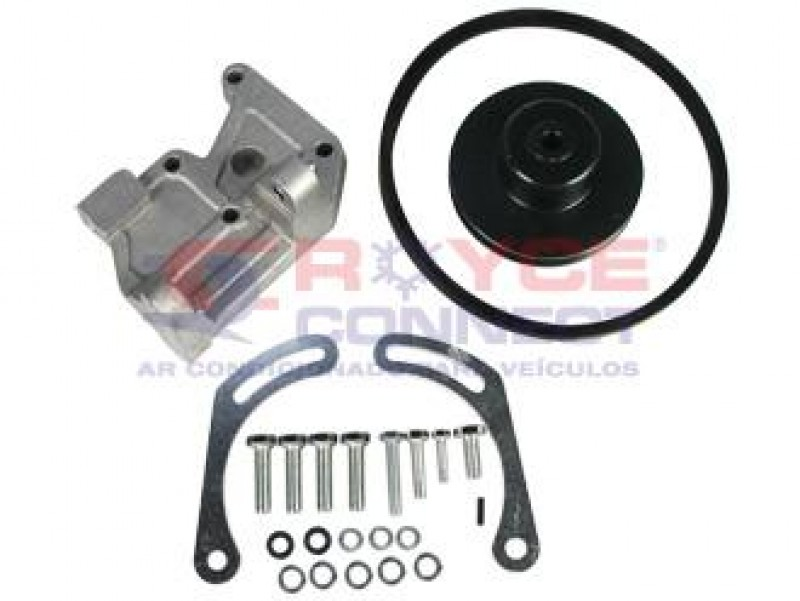 Suporte do Comp. Denso 10P08 Chevrolet Corsa/Celta 8v. s/DH Canal A Kit